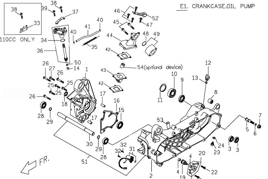 PGO PMX 50 Crank Case Oil Pump