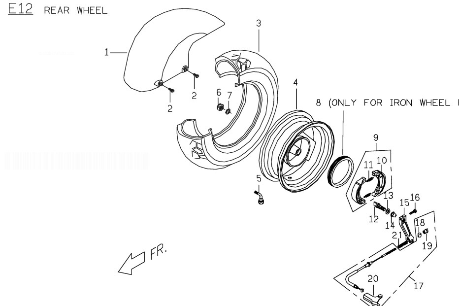 PGO PMX 50 Rear Wheel