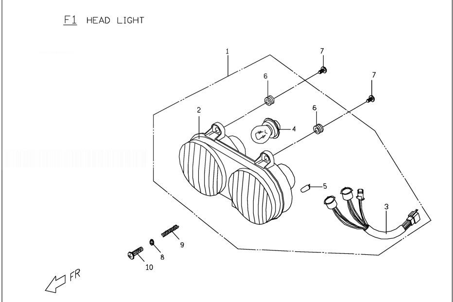 PGO PMX 50 Head Light
