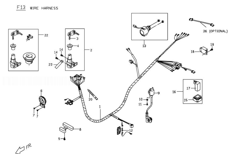 PGO PMX 50 Wire Harness