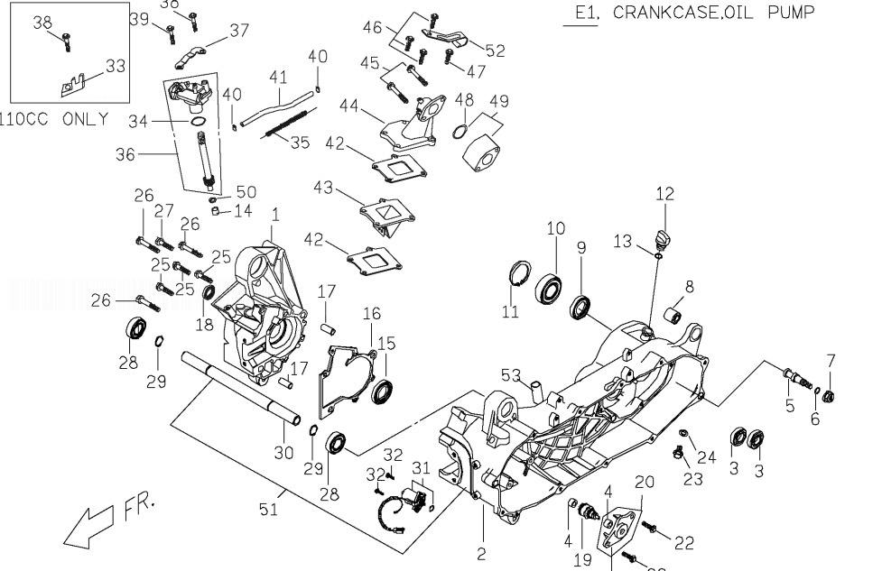PGO T-REX 50 Crank Case Oil Pump