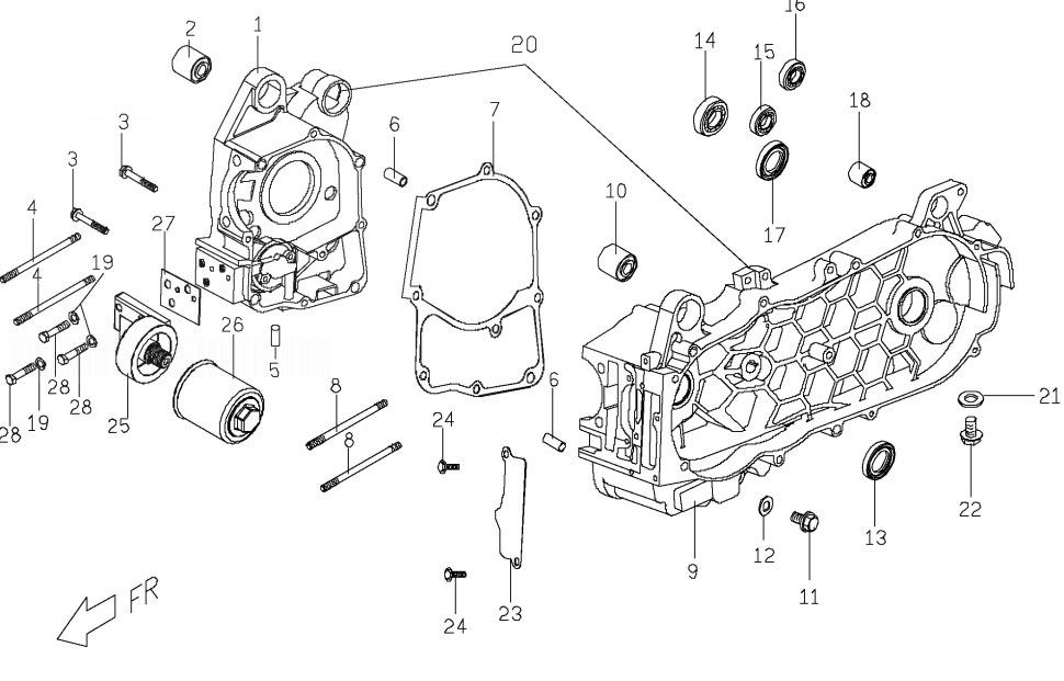 PGO T-REX 125 Crankcase