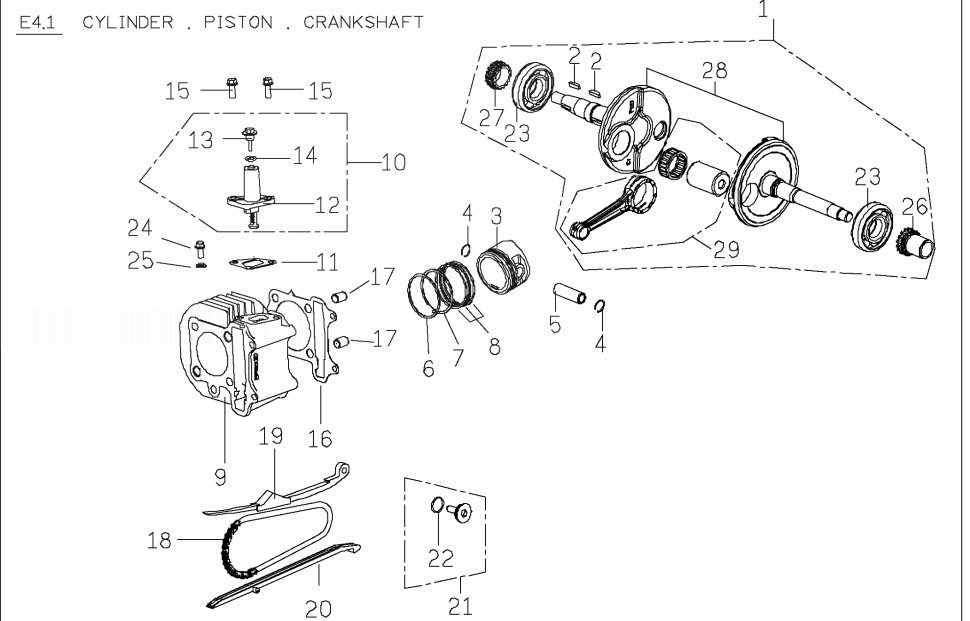 PGO T-REX 125 Crankshaft