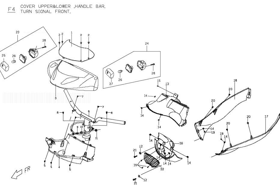 PGO T-REX 125 Steering Handle