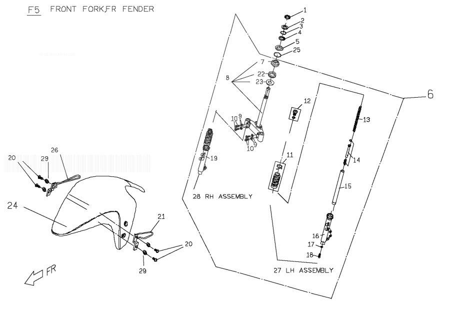 PGO T-REX 125 Front Fork