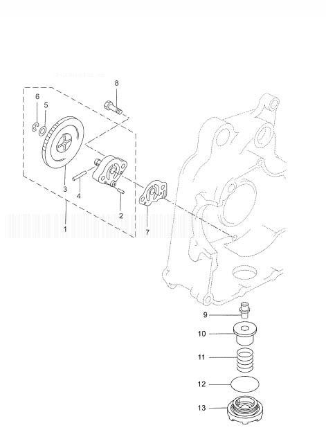 YAMAHA YP250R XMAX 250 Oil Pump