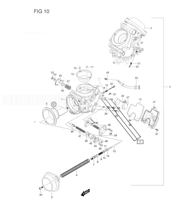 HYOSUNG GT650R COMET Carburetor Assy