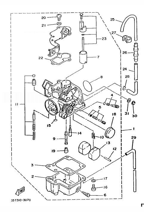 YAMAHA T80 TOWNMATE Carburetor