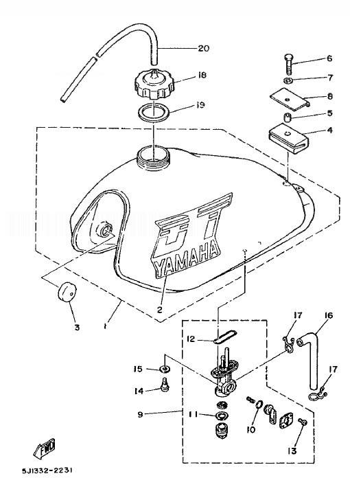 YAMAHA DT50MX 1986 Fuel Tank