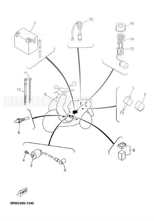YAMAHA CS50Z JOG RR Electrical 2