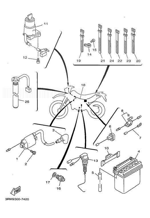 YAMAHA DT125R Electrical 1