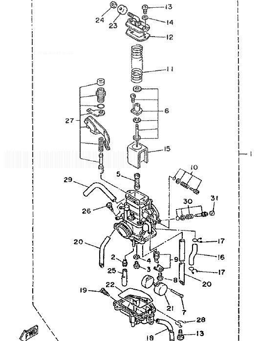 YAMAHA DT125R Carburetor