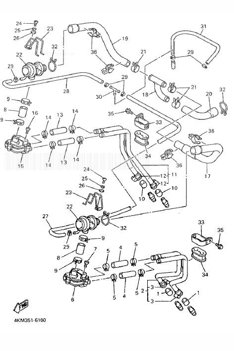 YAMAHA XJ900S Diversion Air Induction System