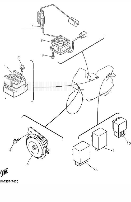 YAMAHA XJ900S Diversion Electrical 1
