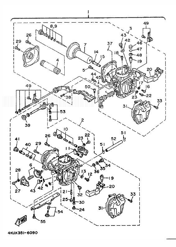 YAMAHA XV535 VIRAGO Carburetor