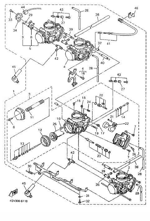 YAMAHA YZF1000R ThunderAce Carburetor