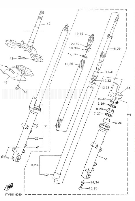 YAMAHA YZF600R Thundercat Front Fork