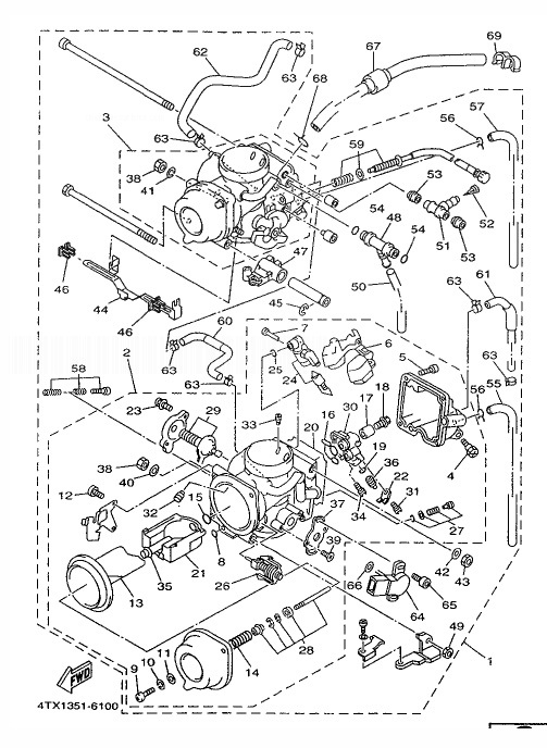YAMAHA TDM850 Carburetor