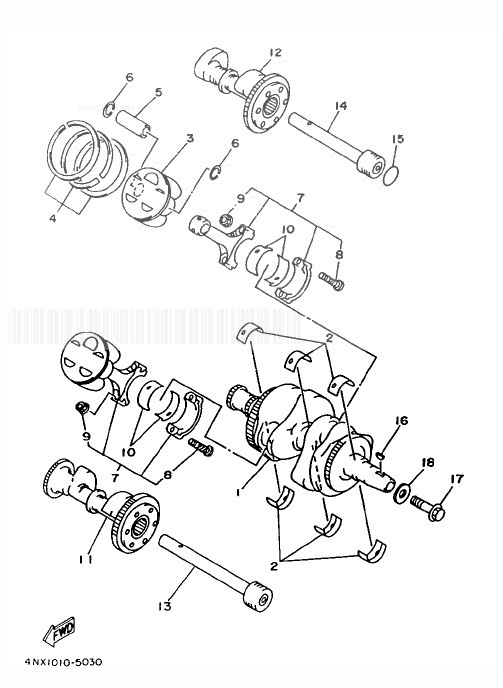 YAMAHA TDM850 Crank & Piston