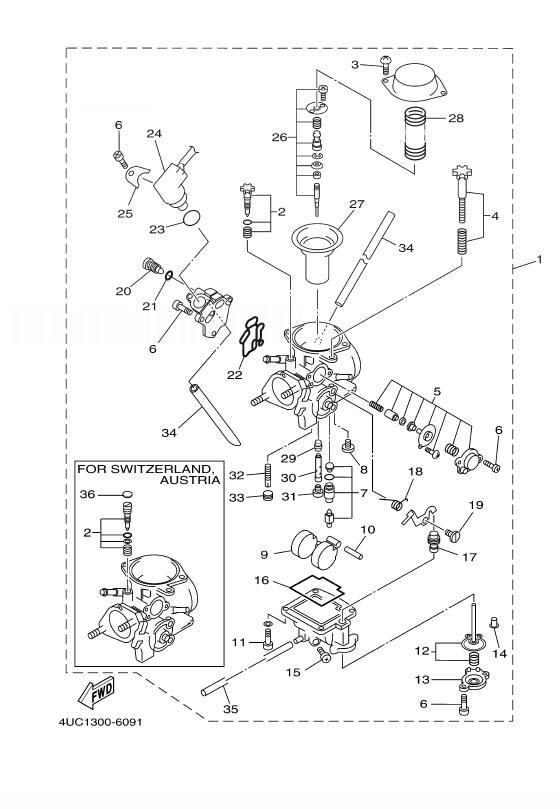 YAMAHA YP250 MAJESTY Carburetor