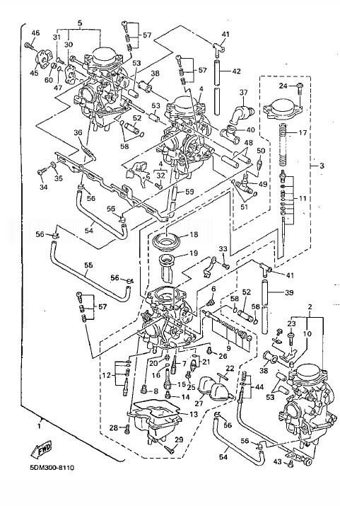 YAMAHA FZS600 Fazer Carburetor