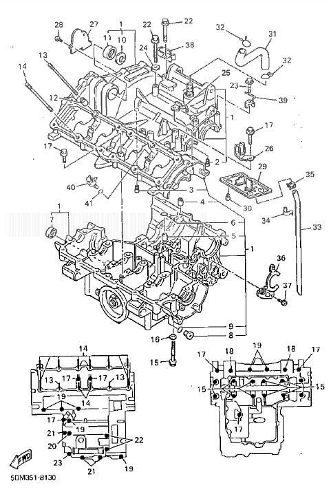 YAMAHA FZS600 Fazer Crankcase