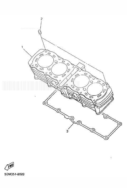YAMAHA FZS600 Fazer Cylinder