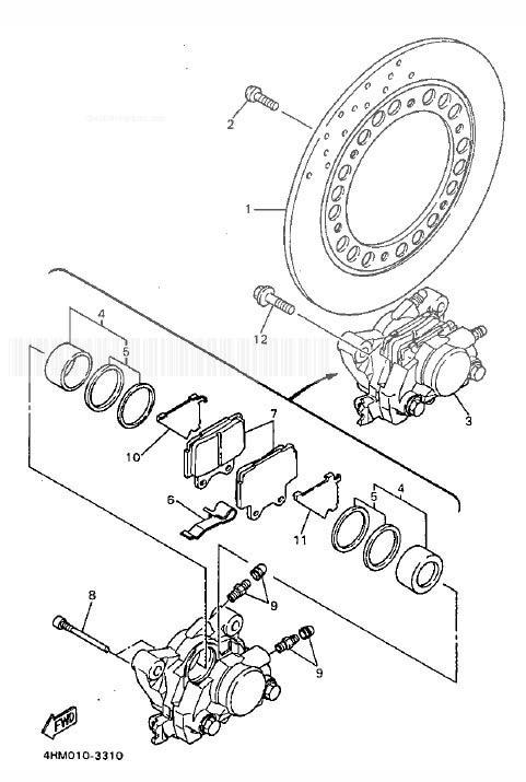 YAMAHA FZS600 Fazer Rear Brake Caliper