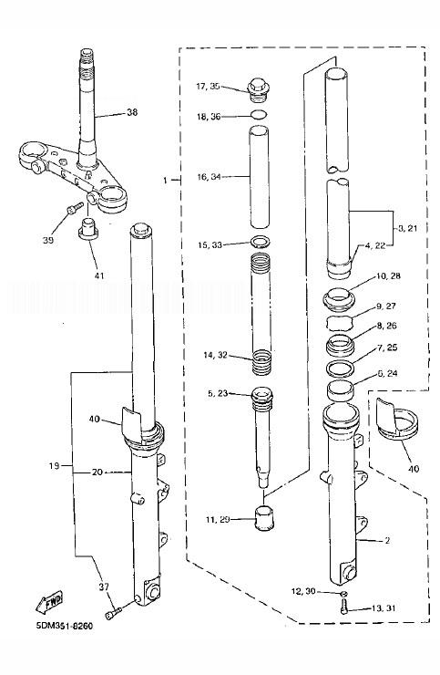 YAMAHA FZS600 Fazer Front Fork