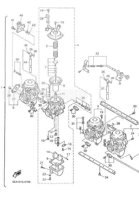 YAMAHA XJR1300 Carburetor