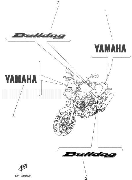 YAMAHA BT1100 BULLDOG Graphic, Emblem