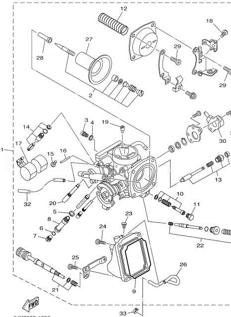 YAMAHA XVS125 Carburetor