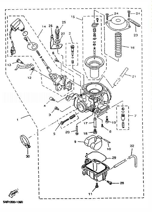 YAMAHA YP125D MAJESTY 2001 Carburetor