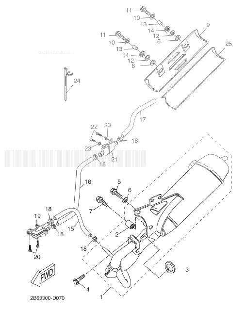 YAMAHA CW50 BWS Exhaust
