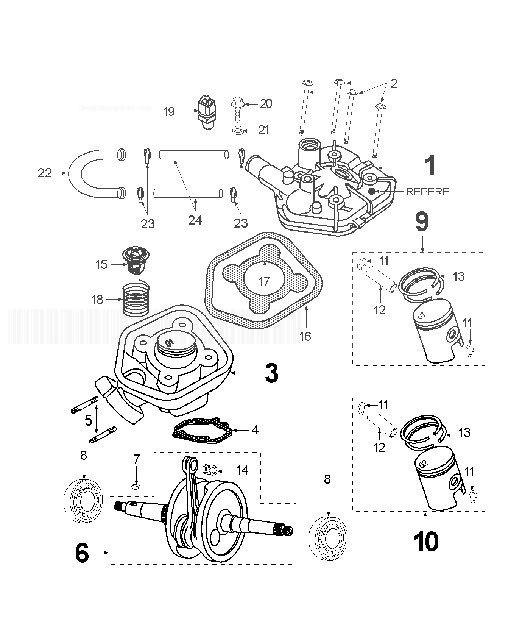 PEUGEOT SPEEDFIGHT 2 50 X-RACE Crankshaft Cylinder