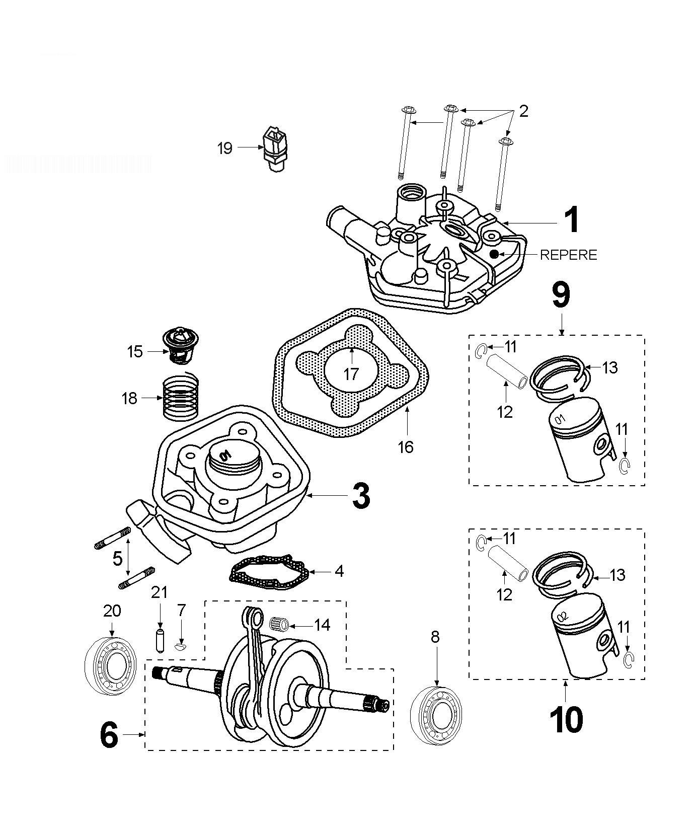 PEUGEOT SPEEDFIGHT 2 50 WRC L2P Crankshaft Cylinder