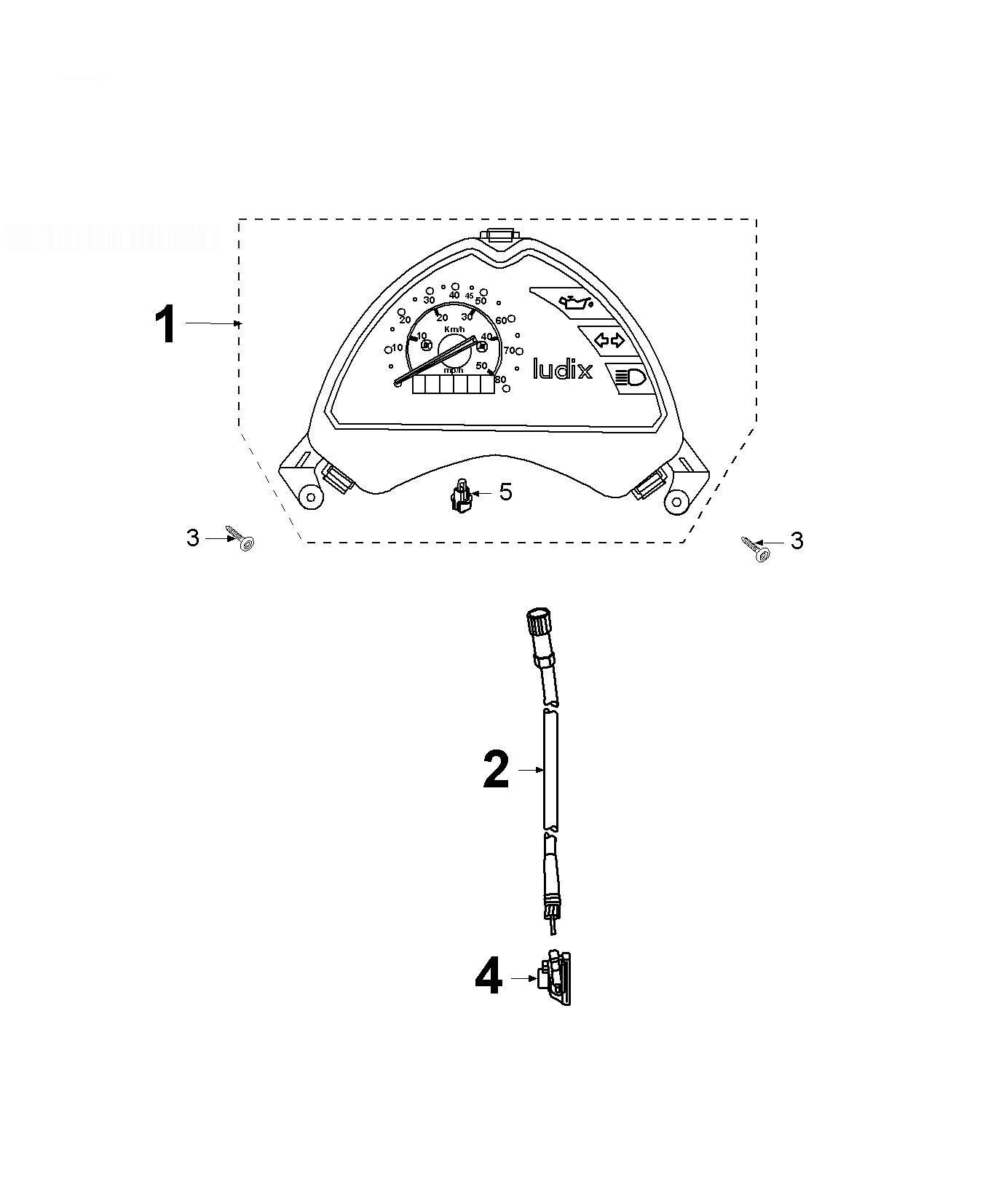 PEUGEOT LUDIX ELEGANCE 50 Speedometer