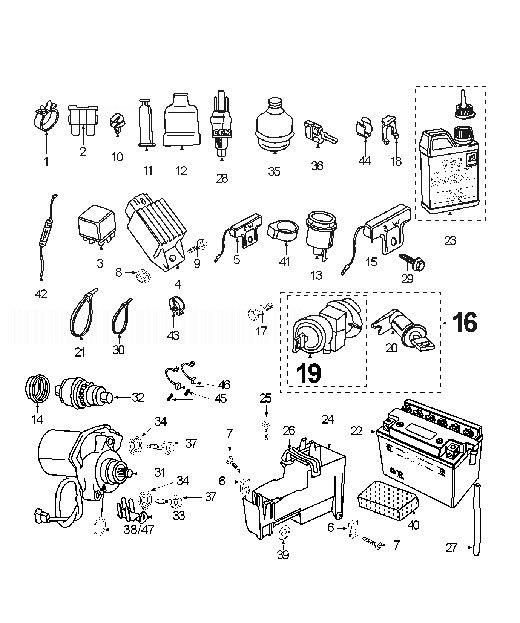 PEUGEOT TREKKER 50 Electric Equipment