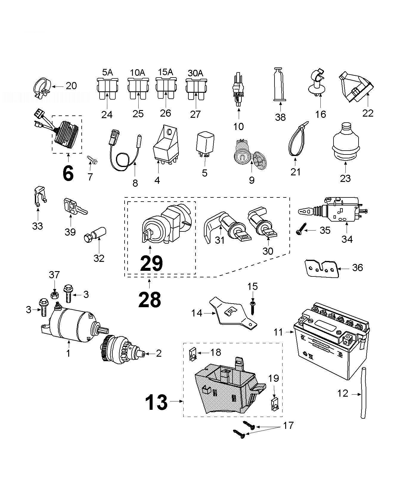 Peugeot Satelis 125 Electric Equipment