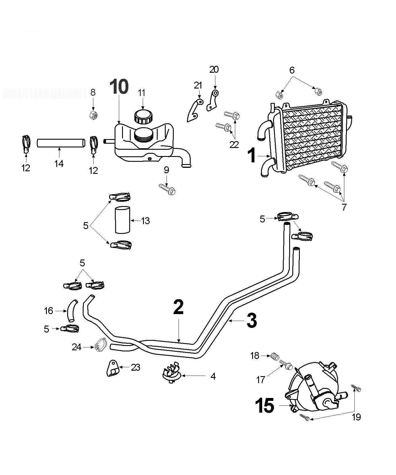 PEUGEOT SPEEDFIGHT 2 50 WRC LNDP Cooling Circuit