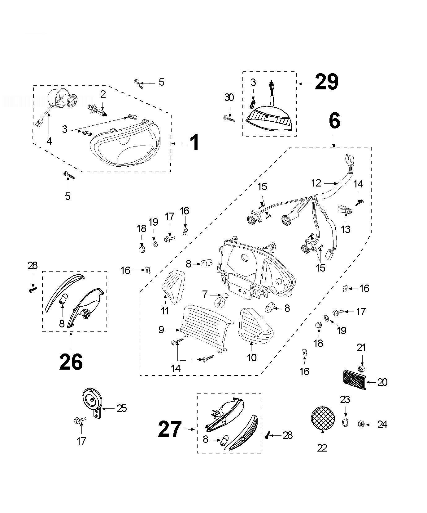 PEUGEOT V-CLIC Light Signal-horn