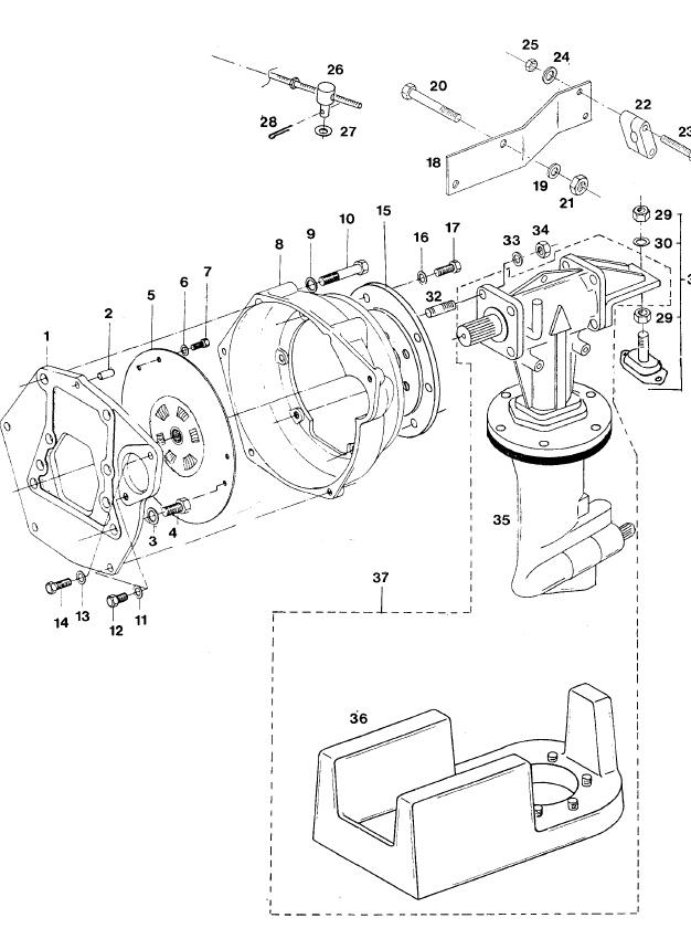 VETUS M3.10 Marine Diesel Engine Saildrive Lombardini