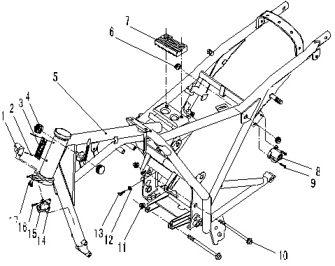 ZONTES TIGER 125 Motorcycle Frame Assembly