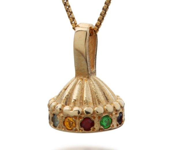Hoshen Crown Necklace In Gold Haari Jewelry