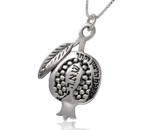 Silver Pomegranate Pendant Haari Jewelry