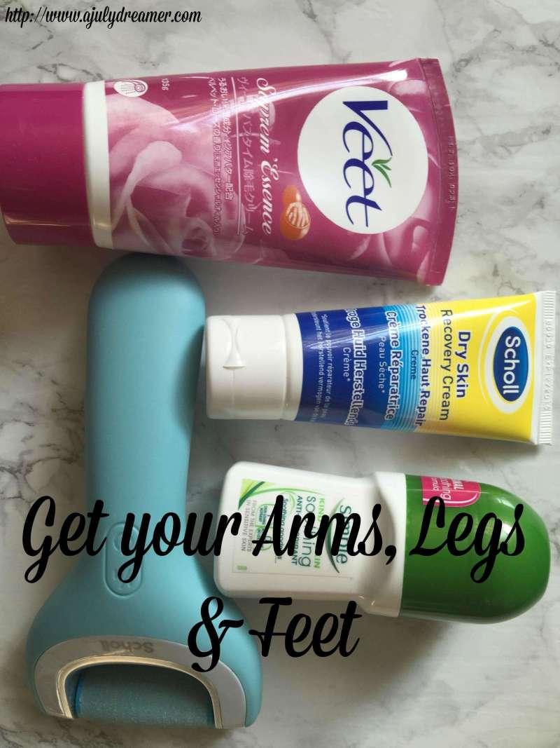 arms legs feet