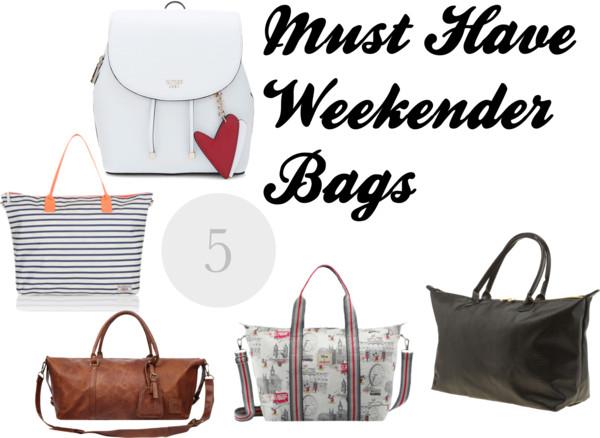 5 Must Have Weekender Bags