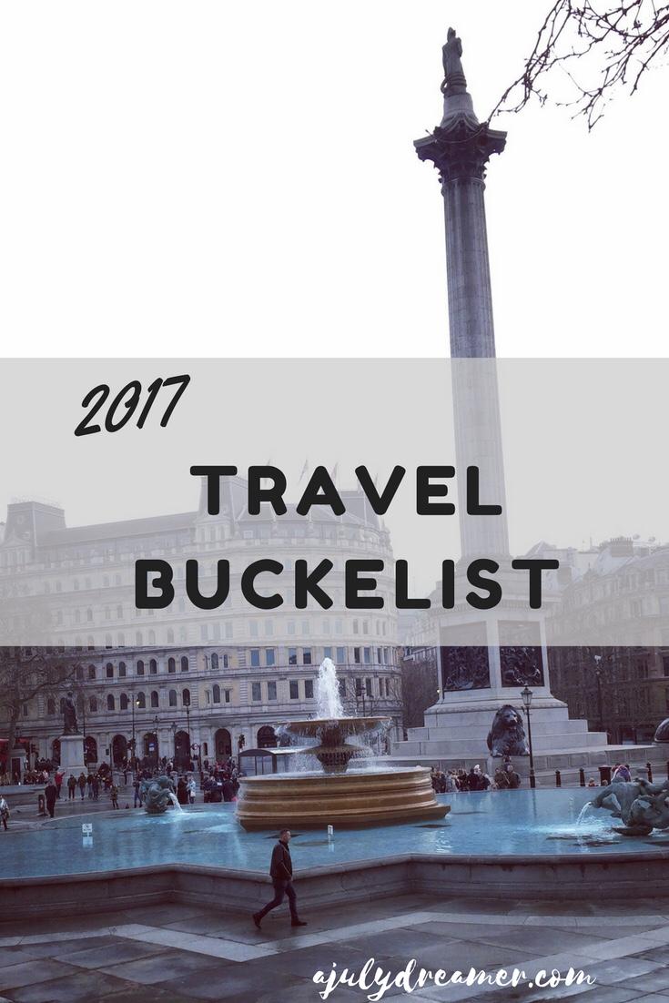 2017 Travel Bucketlist in Review