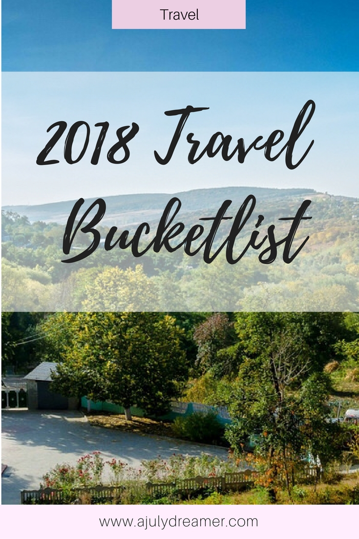 2018 Travel Bucketlist