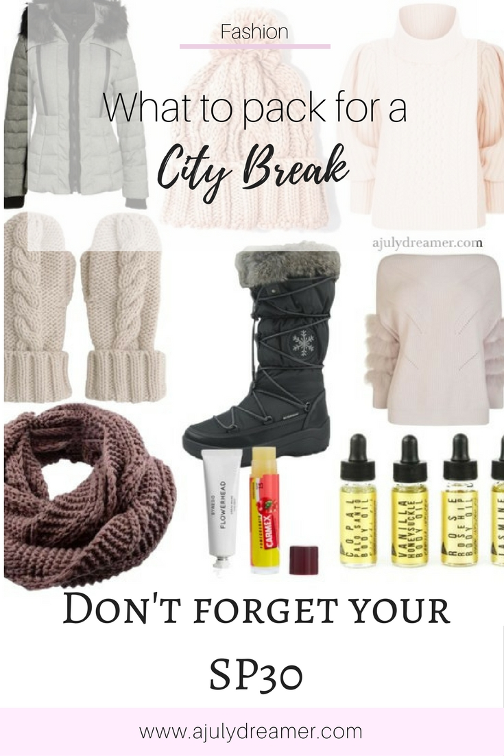 pack for a city break